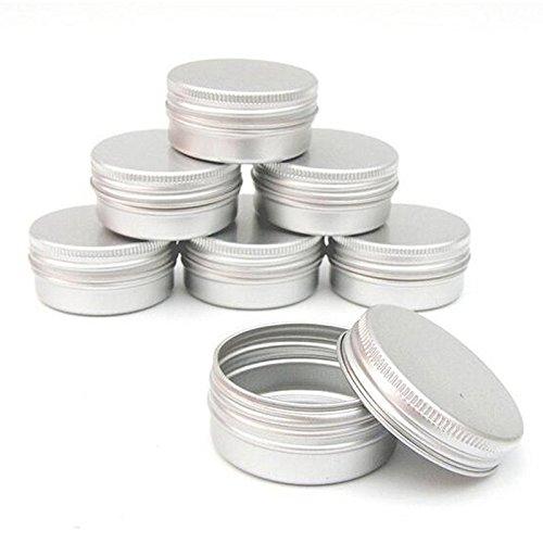 SODIAL Packung mit 10 Balsam Nail Art kosmetische Creme Make-up Topf Lip Jar Zinn Fall Container Schraube Kapazitaet (Leer) Fuer DIY Kosmetik/Beauty-Produkte (30 ml)
