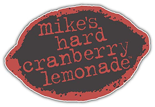 Mike's Hard Cranberry Lemonade Logo Sticker Car Bumper Decal 5'' X 3''