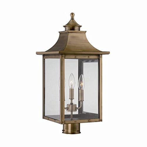 Acclaim 8317AB St. Charles Collection 3-Light Post Mount Outdoor Light (Brass Outdoor Post Mount)