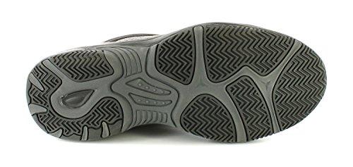 NEU Herren / Herren Schwarz hi-tec Sandstrahl Synthetisch Leichte Turnschuhe - schwarz - UK Größen 7-14