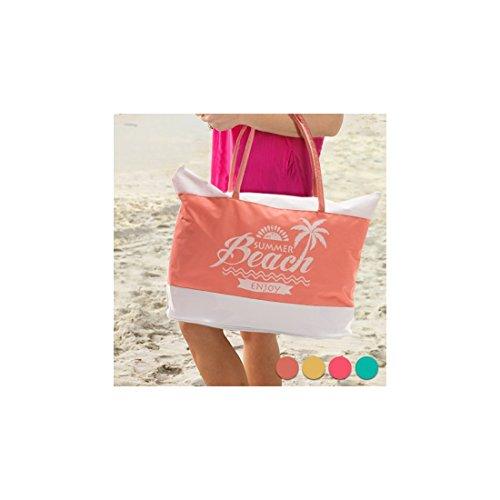 Enjoy Summer Beach Bag Fuchsia
