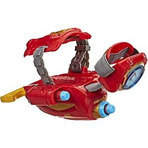 Avengers NERF Power Moves Marvel Iron Man Repulsor Blast Gauntlet NERF Dart-Launching Toy for Kids Roleplay, Toys for Kids Ages 5 and Up