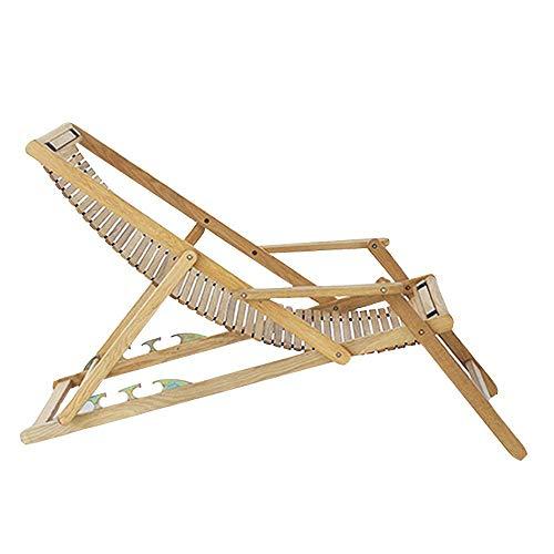 LVLUOYE Zero Gravity Lounge Chair,Recreational Beach Wood Folding Bench, Lunch Pure Oak Adjustable Chairs for Outdoor Garden 152 72 98 cm