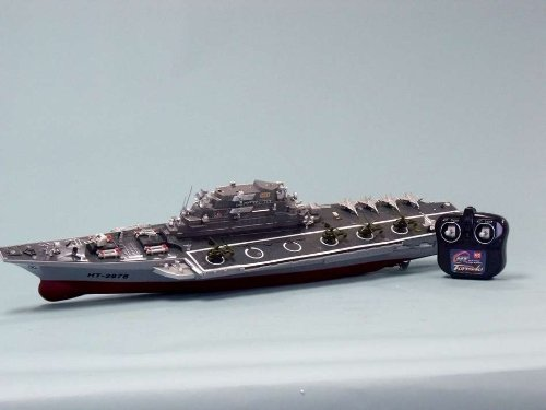 ناو هواپیمابر و کشتی جنگی چوبی با کنترل از راه دور رادیویی RC محصول HT. |