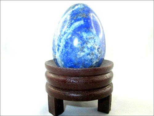 Jet Natural Lapis Lazuli Gemstone Egg 45-50 mm A+ Hand Carved Crystal Altar Healing Devotional Focus Spiritual Chakra Cleansing Metaphysical Jet International Crystal Image is JUST A Reference