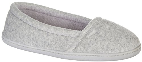 Memory Sleet Dearfoams Closed Women's Slipper Foam Velour Back xAqpqnZHFw