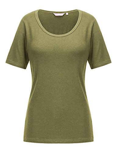 REGNA X Love Coated Woman Grass Keyhole Sexy v-neck Collar cap sleeve Tunic Top,17504_olive,3X