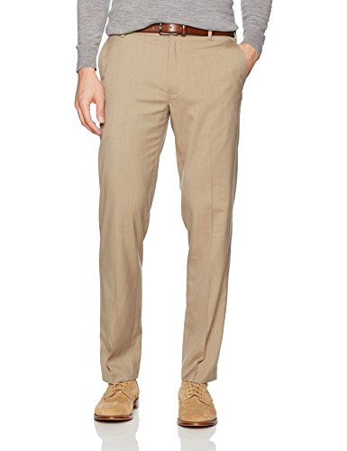 Mens Poplin Pants - Van Heusen Men's Air Straight Fit Flat Front Dress Pant, Khaki, 33W X 30L