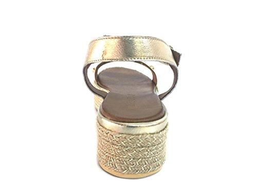 esclavo Silver 6246 sandalias candilejas Dorado mujer TJILL de de blancas plataforma la INUOVO xqp6aZ4