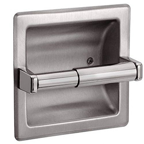 Nickel Recessed Toilet Paper Holder Brushed Hardware]()