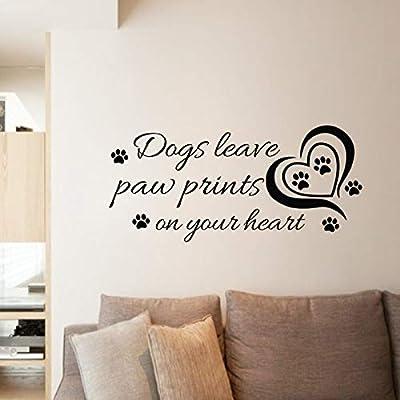Los perros dejan huellas en su corazón pegatinas de pared diy ...