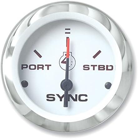 Sierra International 80730P Heavy Duty Engine Synchronizer Gauge for Inboard /& Diesel Engines 2 2 Teleflex