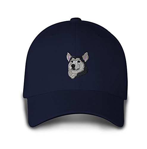 Siberian Husky Embroidery (SIBERIAN HUSKY HEAD DOGS PETS Embroidery Embroidered Adjustable Hat Baseball Cap)