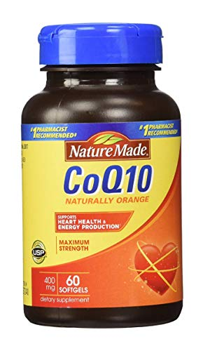 Nature Made CoQ10 Coenzyme Q10 400 mg - 60 - Softgels Mg 400 60