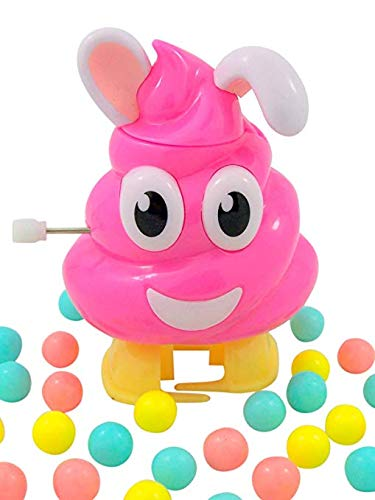Easter Bunny Poop Emoji Pooper Candy Dispenser Basket Stuffer, 0.52 oz, Pack of 3