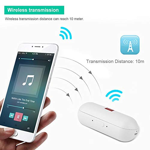 Translator Earbuds with Gift Charging Box,2 in 1 Bluetooth Headphone/ Real Time Wireless Language Translator Earphone Device Voice Translation Support 19 Languages Dual Mic & Noise Reduction(White) by fosa (Image #5)