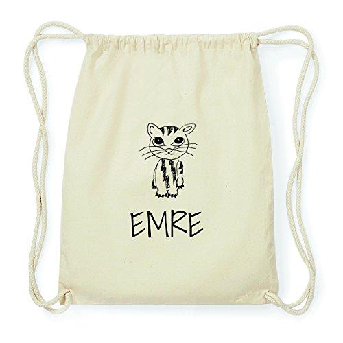 JOllipets EMRE Hipster Turnbeutel Tasche Rucksack aus Baumwolle Design: Katze kC62c