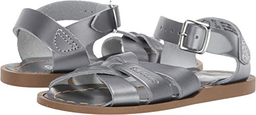 Salt Water Sandals by Hoy Shoes Baby Girl's The Original Sandal (Toddler/Little Kid) Pewter 13 M US Little Kid