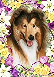 Collie by Tamara Burnett Easter Flowers House Dog Breed Flag 28'' x 40''