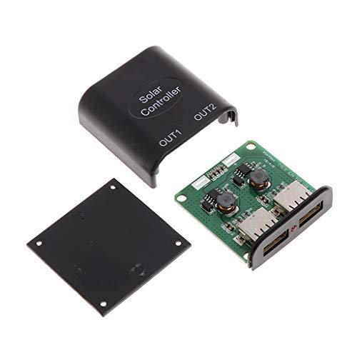 (PoityA 5V 2A +9V DC Solar Panel Power Bank USB Charge Voltage Controller Regulator)