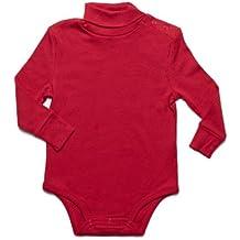 "Leveret Baby Boys Girls Long Sleeve ""Turtleneck Bodysuit"" 100% Cotton (6 Months-2 Toddler)"