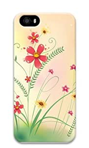 Cool Flowers Grass PC Case Cover for iPhone 5 and iPhone 5s 3D