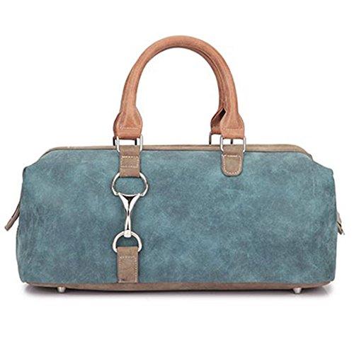 Handtasche -Vikken- von HI-DI-HI - blaue Damenhandtasche mit Henkel mit abnehmbarem Tragegurt