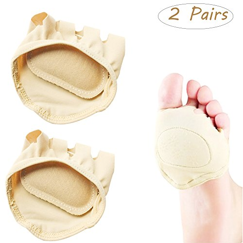 High Heeled Open Toed (Forefoot Pads,Fingerless Half Socks Five Toes Floor Socks Wicking Casual for Women's High-heeled Fore Foot Cushion)