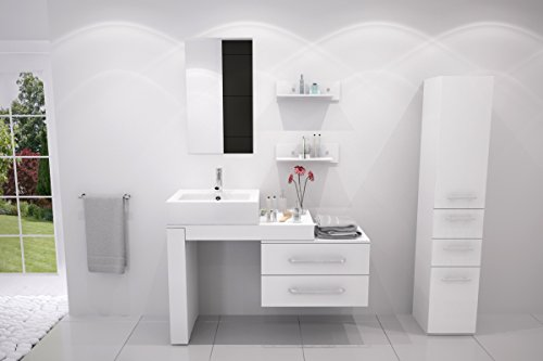 33.5'' to 57'' Scorpio Single Vessel Sink Vanity - White by JWH Living
