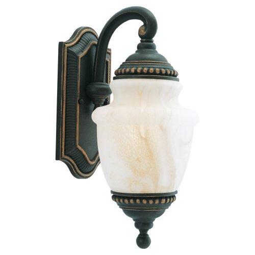 Mojave Finish Light - Sea Gull Lighting 88055-764 Portofino 1-Light Outdoor Wall Lighting, Mojave Luster