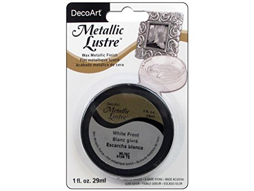DecoArt FrostWhite Metallic Lustre 1oz Frost White