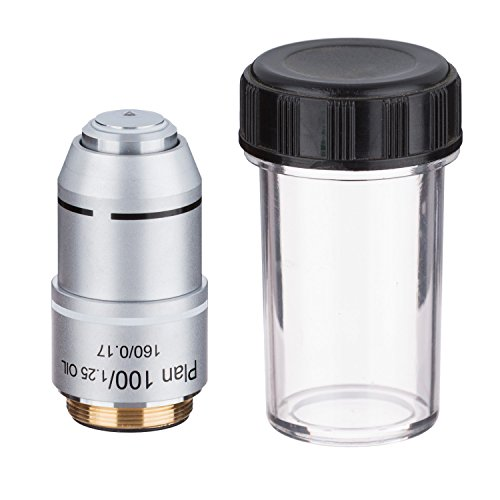 AmScope PA100X 100X (Oil) Plan Achromatic Microscope Objective by AmScope