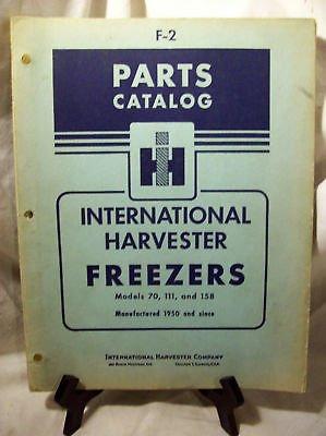 I.H. Parts Catalog Freezers 70,111,158, F-2 (70 Freezer compare prices)