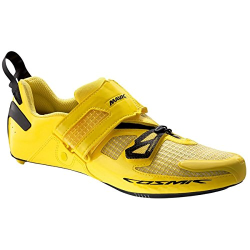 Mavic Cosmic Ultimate Tri Shoes - Men's Yellow Mavic/Black, US 10.0/UK (Mavic Cosmic Carbone Ultimate)