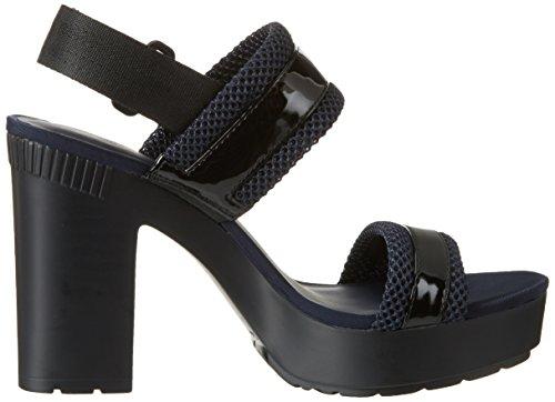 Jeans Mesh Klein para Patent Tiras Negro de Black Mujer Calvin Lalita 47I5xwq4