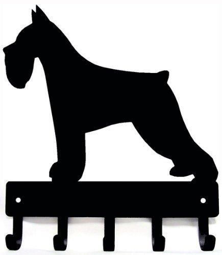 Miniature Schnauzer Key Rack & Dog Leash Hanger - Large 9 inch
