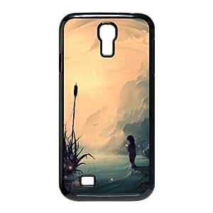 Evanescent Samsung Galaxy S4 Case for Women Protective, Case for Samsung Galaxy S4 Mini for Girls [Black]
