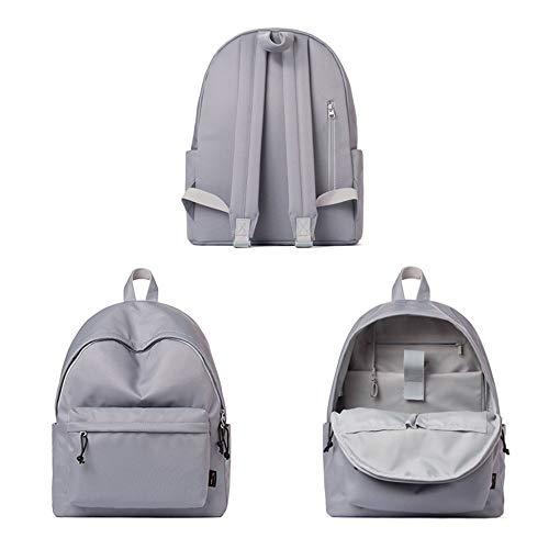 Femenina Capacidad Sólido La De Gray Impermeable Secundaria Color Escuela Versión color Bolsa Ins Marea Coreana Macho Estudiante Gray Gran Salvaje Mochila dqw1ZXOd
