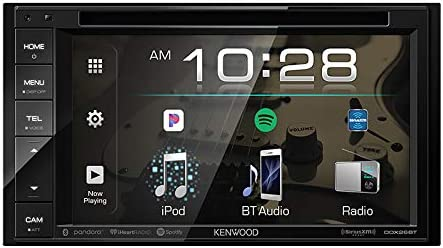 Kenwood 6.2 2-Din In-Dash Sirius MP3 WMA DVD Monitor Bluetooth Receiver, Enrock Car License Plate Frame Rear View Backup Waterproof Camera