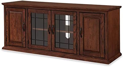 BOWERY HILL Holliday 60″ TV Stand Console Solid Wood