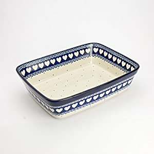 Polish Pottery Small Lasagne Dish – Light Hearted – 25 x 19cm