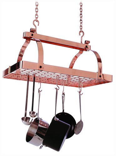 Enclume PR1nbwg-CP Classic Rectangle No Center Bar with Grid Premier Ceiling Rack, Copper