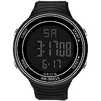 Clement Attlee New Luxury Men Smartwatch with Walking Calories Analog Digital Military Sport LED Waterproof Wrist Watch (Black)