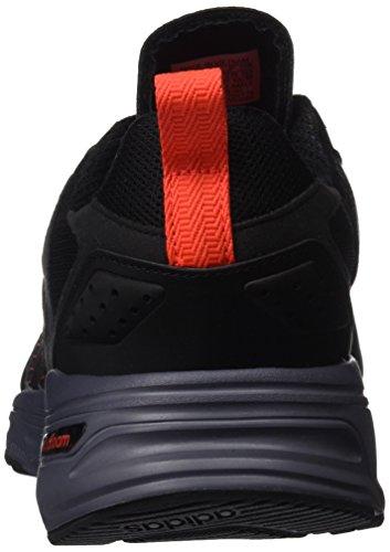 Adidas cloudfoam Super Flyer, Baskets mode pour homme, noir–(negbas/negbas/rojsol) 431/3