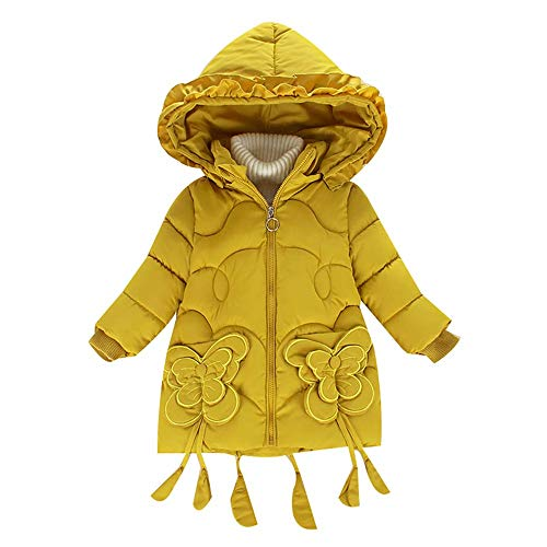 IINFINE Kid's Winter Lightweight Puffer Jacket Boy's Girl's Down Jacket(Yellow-2-3Years)