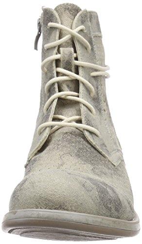Rieker - Botas de cuero para mujer Negro