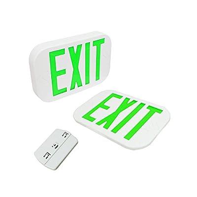 eTopLighting 6 PCS NEW Green Letter SMD LED Exit Emergency Sign Light/Battery Back-up , E3NG-6
