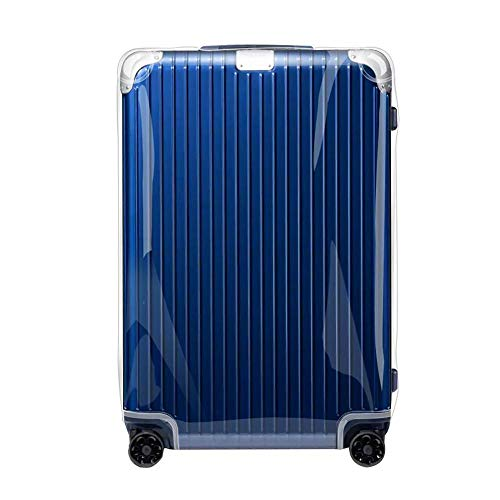 Sunikoo Luggage Cover for Rimowa HYBRID Suitcase Clear PVC Protector Transparent Protective Case with Bright Red Zipper 883.63 Check-In M ()