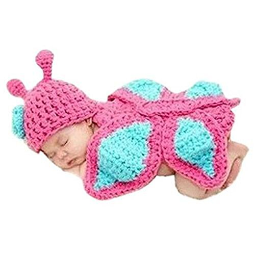 Baby Photo Prop Outfit Clothes Knit Crochet Photopraphy Dress Handmade (Butterfly)