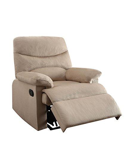 ACME Furniture Acme 00702 Arcadia Recliner, Beige woven Fabr